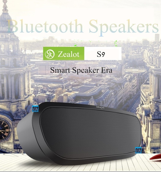 Caixa De Som Bluetooth Zealot S9 Importada (3 Cores)