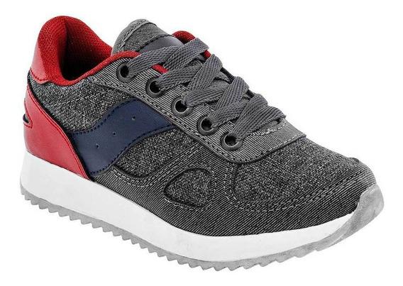 Tenis Skyline 040 Color Gris Niño Shoes Pk