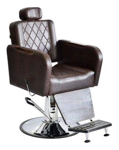 Cadeira Poltro Barbeiro Reclinável T. Santa Caravaggio = Mnn