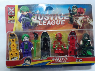 Lego Tipo Roblox Simil Liga De La Justicia Set X 3 Figuras