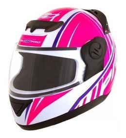 Capacete Pro Tork G6 Feminino Pro Color Branco Rosa