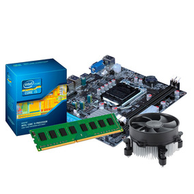 Kit Processador I3 2100 + Placa Mãe H61, 4gb Ddr3