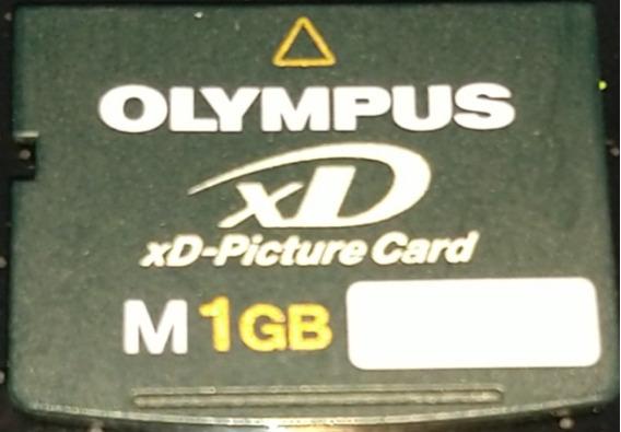 Cartão De Memória Xd Picture 1gb / Olympus Xd Picture Card