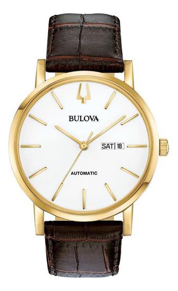 Relógio Masculino Bulova Classic American Dourado 97c107