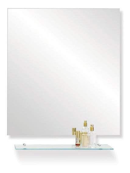 Espejo Reflejar Con Repisa Ole Pulido 50x70 Baño Pared