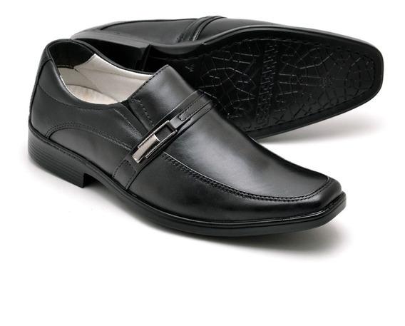 Sapato Anti Stress Couro De Cabra Social Couro