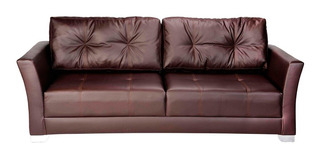 Sofa Capitan 2 Puestos Ecocuero Colores Varios