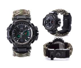 Relógio Tático Yuzex Survival Gear 8 Em 1 Militar Camping