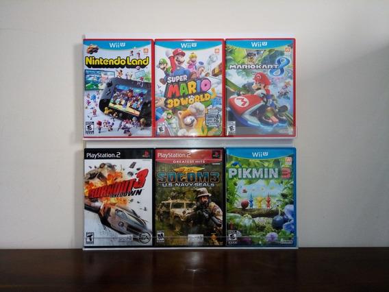 Nintendo Wii Case Expositor Porta Jogos Leia A Descrição