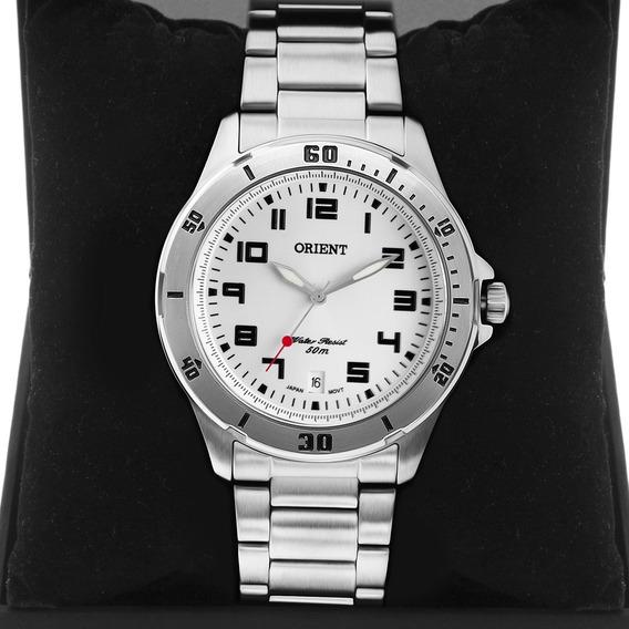 Relógio Masculino Orient Prata Original Nfe Mbss1155a S2sx