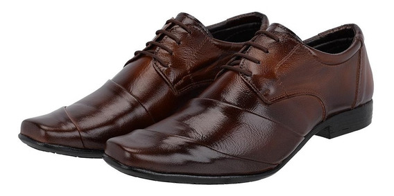 Sapato Social Cadarço Masculino Em Couro Legítimo Leoppé