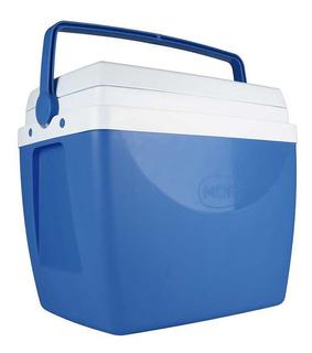 Caixa Térmica 34 Litros Com Alça E Porta Copos Cooler Mor