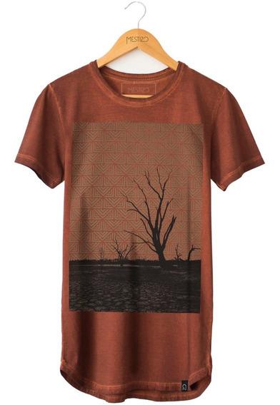 Camiseta Masculina Camisa Longline Cerrado Algodão Orgânico