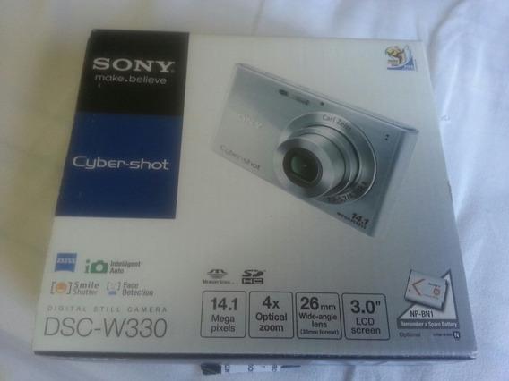 Câmera Digital Sony Dsc-w330 14.1mp Completa Com Acessórios