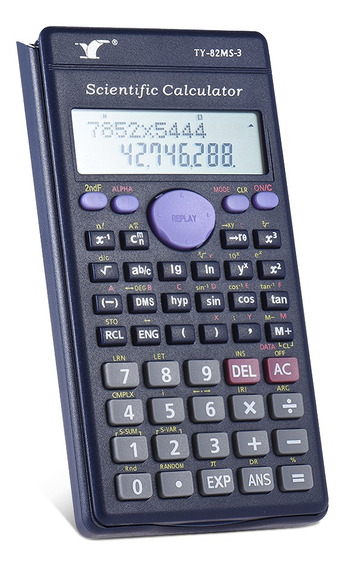3*contador Scientific Calculator 240 Funções 2 Line Lcd