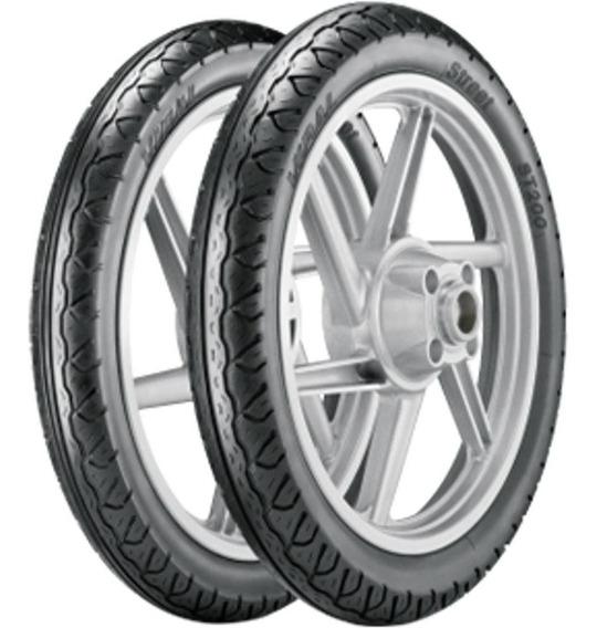 Par Pneu Dafra Super Moto 60/100-17 + 275-17 St200 Vipal
