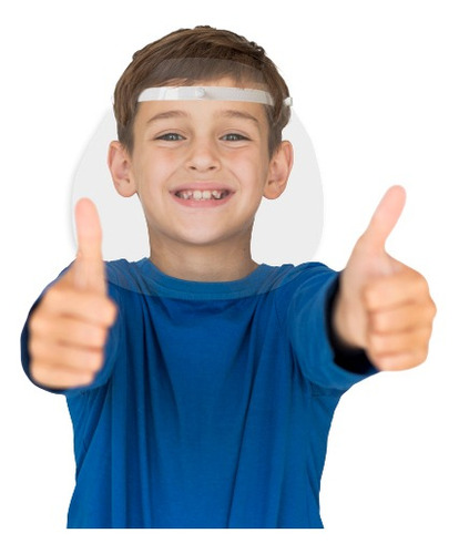 Imagem 1 de 12 de Máscara Facial Protetora Criança - Mbck01