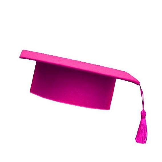 Capelo Formatura Graduação Infantil Ajustável Rosa Pink