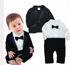 Terno De Bebê Social Macacão + Blazer Pronta Entrega