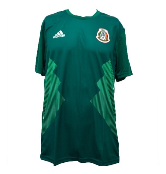 Playera adidas Hombre Verde Seleccion Mexicana Home Du2310