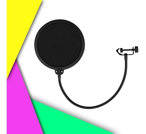 Filtro Anti-pop Para Micrófono Ajustable Doble Capa