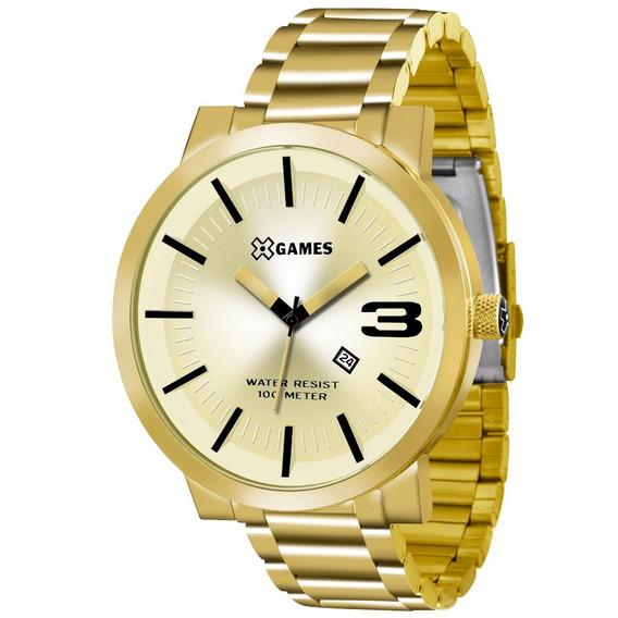 Relógio X-games Masculino Xteel Dourado Xmgs1007-c2kx