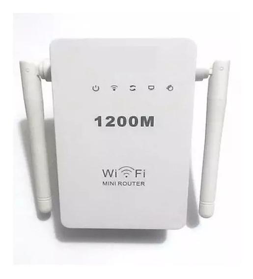 Repetidor De Sinal Wifi Wireless Roteador 2 Antenas 1200mbp