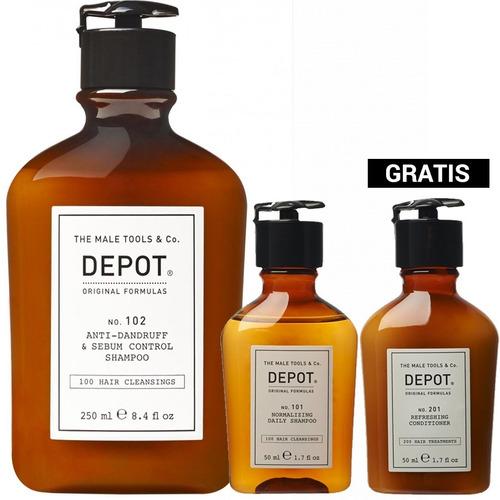 Pack Depot Shampoo 102 Anti Caspa, Shampoo + Acondicionador