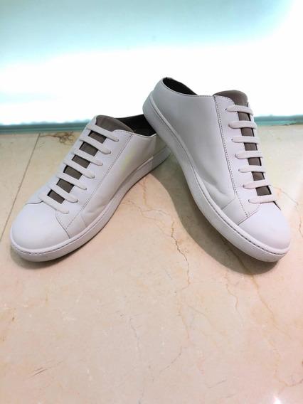 Sneakers Vince Blancos Con Talón Expuesto