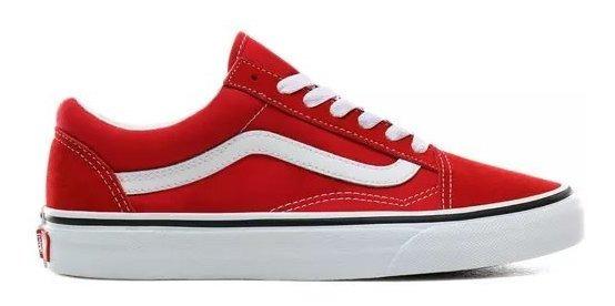 Tenis Vans Old Skool Rojo Blanco 100% Originales