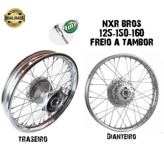 Roda Bros Traseira E Dianteira Nxr 125-150 Freio Tambor