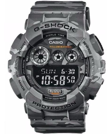 Relógio Casio G-shock Gd-120cm-8dr Camuflado Original Lata