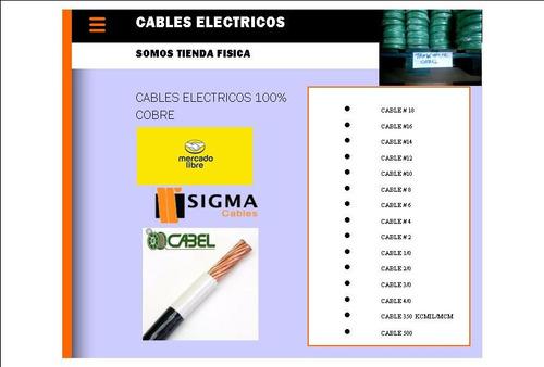 Cables #6, 100% Cobre