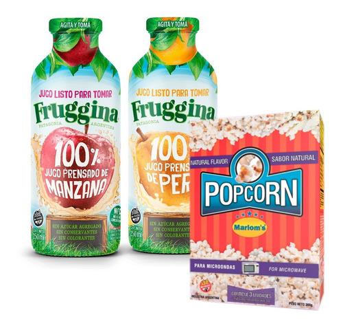 Jugos Fruggina Listos Para Tomar + Popcorn Marlom's Natural