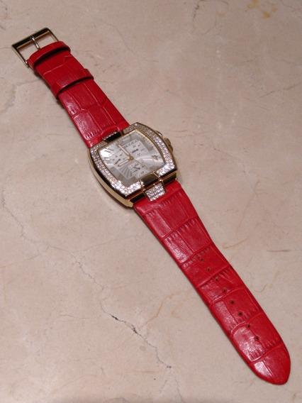Relógio Guess U13520l2 Caixa Dourada Cristais Swarovski
