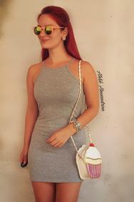 Vestido Moda Feminino Básico Regata Alcinha Justinho Preto
