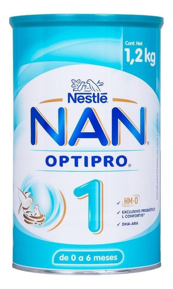 Fórmula para lactantes en polvo Nestlé Nan OptiPro 1 en lata de 1.2kg