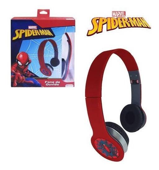 Fone De Ouvido Infantil Spider-man Dobrável C/ Fio