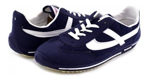 Tenis Panam 0084 092 Azul Marino Retro 22-25 Caballeros