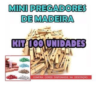100 Mini Prendedores Pregador Lembrancinha Madeira 2,5cm