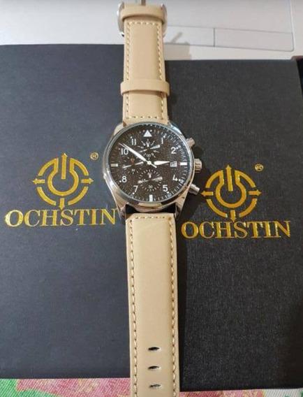 Relógio Masculino Ochstin Modelo 6043 G Pulseira De Couro E