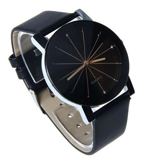 Relógio Feminino Quartz Pulseira Couro Original Top