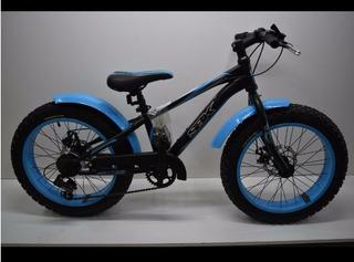 Bicicleta Sbk Hunter Fat Bike R20 7v