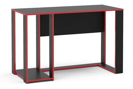 Mesa Gamer Singapura Ideal Para 2 Monitores Preto/vermelho