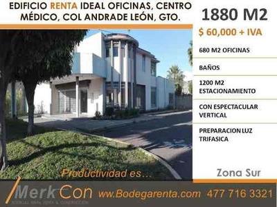 Edificio En Renta 1880 M2 Col Andrade Leon Gto,mx