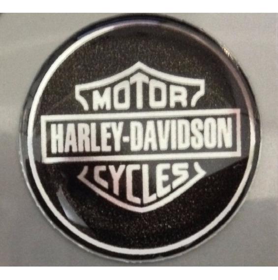 Adesivo Harley Davidson Escudo Prata Red. 3cm T3at + Brinde