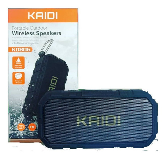 Caixa De Som Bluetooth Kaidi Kd-806