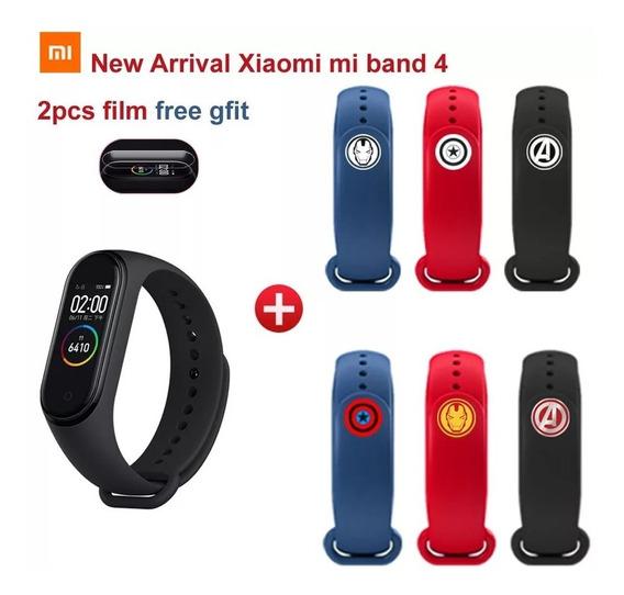 Xiaomi Mi Band 4 Black - Versão Vingadores + 2 Películas