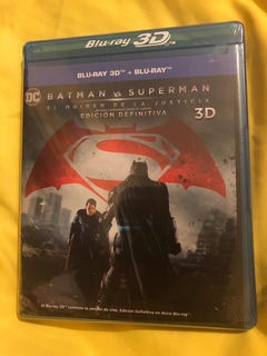 Batman V Superman Edición Definitiva Bluray3d/bluray 3discos