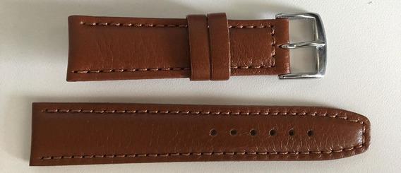 Pulseira Couro Marrom Claro Relógio 22mm